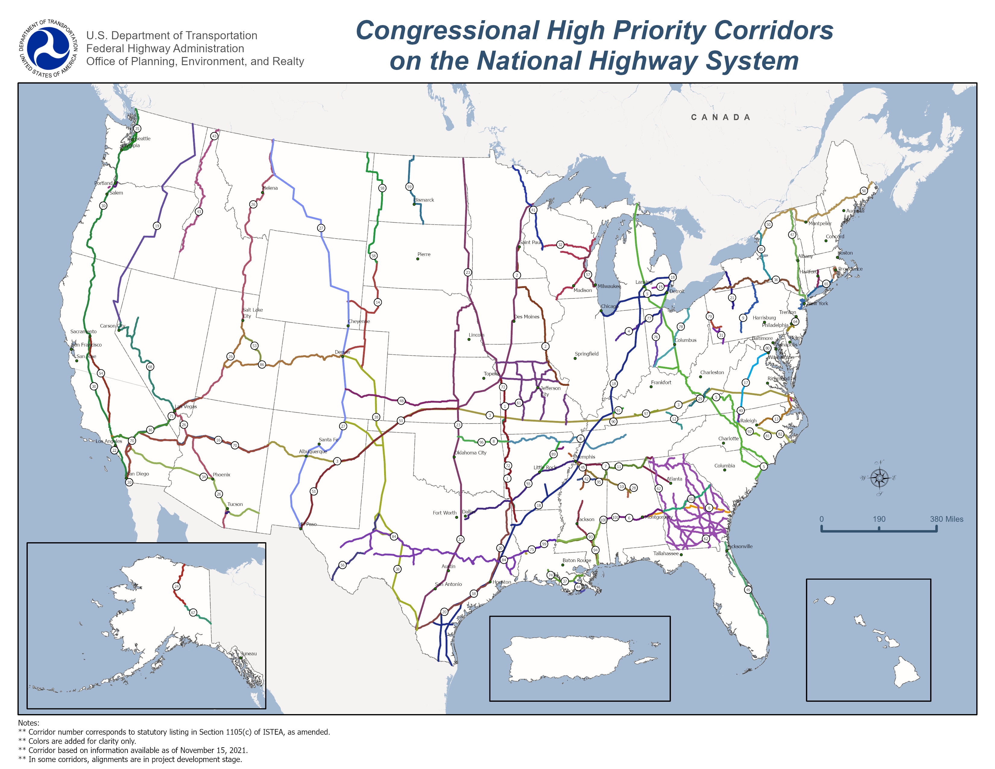 High priority corridors national highway system planning fhwa view a larger version sciox Choice Image