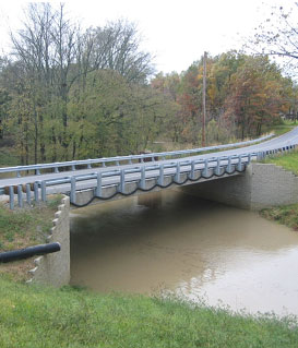 Photo of the completed Bowman Bridge