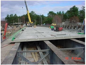 De profundidad completa paneles prefabricados de la cubierta con y sin logitudinal postesado