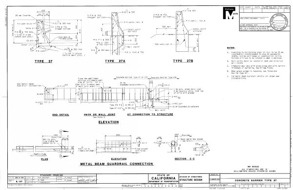 Schematics for the 32″ new jersey shape concrete barrier rail. for
