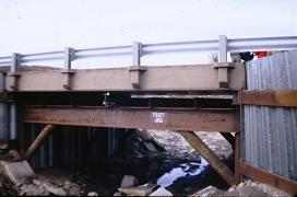Photo of No Name Creek bridge, Russell, KS, 1st vehicular bridge in US