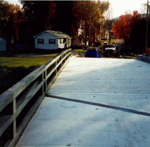 Photo of S. Broad St./Dyke Creek bridge - Deck prior to application of wearing surface