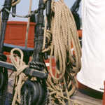 Closeup of the Rigging on the Schooner Sultana