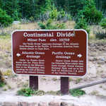 Continental Divide Interpretive Sign