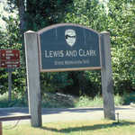Sign for Lewis and Clark State Recreation Area