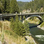 Rainbow Bridge on the Payette River Scenic Byway