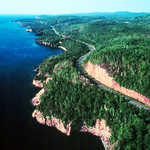 Aerial View of the North Shore Scenic Drive
