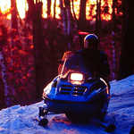 Snowmobiling the North Shore State Trail