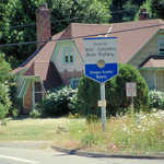 Entrance Sign near Troutdale Home