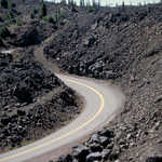 Winding Through Lava on McKenzie Pass - Santiam Pass Scenic Byway