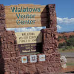 Walatowa Visitor Center Facility Sign
