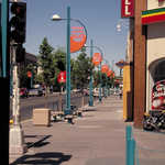 Streetside Route 66 Lamppost Signs