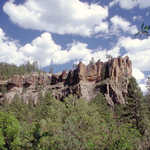 Battleship Rock on Jemez Mountain Trail