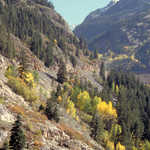 San Juan Mountainsides Speckled with Fall Color