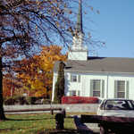 A Bar Harbor Church in the Fall