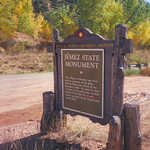 A Jemez State Monument Marker at Soda Dam