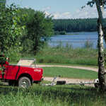 Red Truck at Pughole Lake