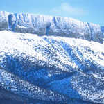 Snow Covered Ridges of the Abert Rim