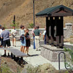 Outside the Visitor Center at the West Trailhead