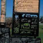 Logan Canyon Scenic Byway Entrance Sign
