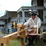 Sharpening a Blade at Old Fort Steuben