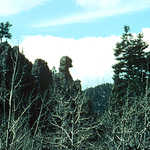 """The Chief"" Rock Formation in Phantom Canyon"