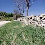 Flint rock wall along Flint Hills Scenic Byway, Kansas