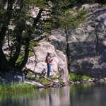 Fly Fishing on Cliff Lake, Beartooth Mountains