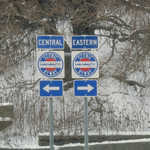 Byway Signage approaching Ohio & Erie Canalway