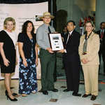Presenting Designation Plaque to Death Valley Scenic Byway