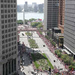 Red Wings Victory Parade down Woodward Avenue