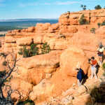 Hikers Descending the Arches Trail
