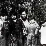 Native Family Along Glenn Highway Corridor