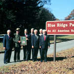 Standing by the Blue Ridge Parkway in 1996