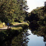Bikers Along the Delaware and Raritan Canal