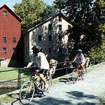 Biking Past Prallsville Mills