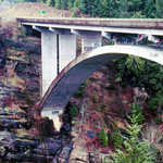 Highway Bridge Over the Elwha River Gorge