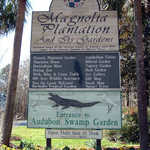 Welcome Sign for Magnolia Plantation