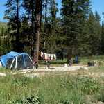 Camping at Soda Butte