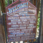 Welcome Sign at Tinkertown Museum