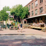Visitors Stroll the Streets of Anthony's Wharf
