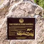 Marker at Temple Fork