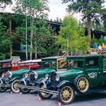 Antique Cars at the Grand Lake Lodge