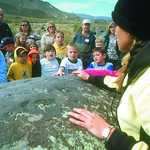School Group Viewing Petroglyph at Celebration Park