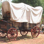 Covered Wagon at Pipe Springs National Monument