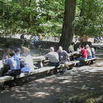Tour Group Having Lunch at Eagle Creek Recreation Area on the Historic Columbia River Highway