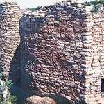 """D"" shaped tower at Hovenweep National Monument"