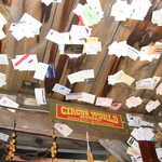 Business Cards on the Ceiling at Tinkertown Museum