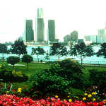 The Detroit Skyline and the Detroit River