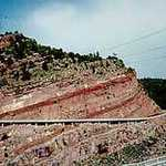 View of Highway 91 from Flaming Gorge Dam